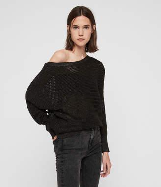 AllSaints Elle Metallic Sweater