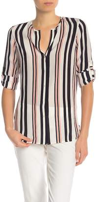 BOSS Relliana Striped Silk Blouse