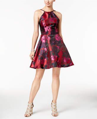 Xscape Evenings Floral Brocade Fit & Flare Dress