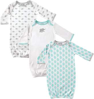 Luvable Friends Baby 3-Pack Gowns