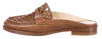Alexandre Birman Leather Round-Toe Mules