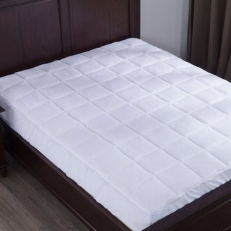 Pure Down Puredown Down Alternative Mattress Pad/Topper, Plush Top, Queen size