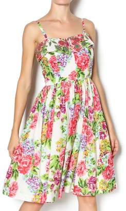 Aryeh Beaded Rose Floral Dress