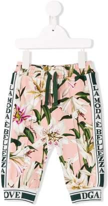 Dolce & Gabbana lily print track pants