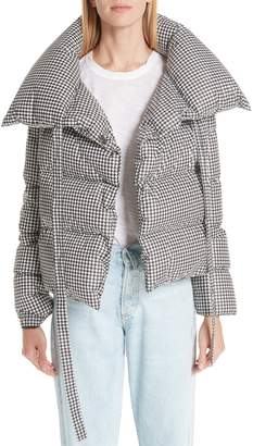Bacon Puffa Houndstooth Down Puffer Jacket