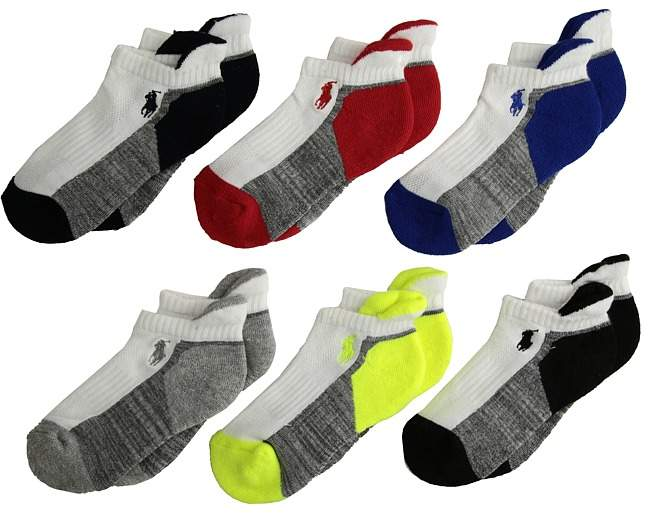 Athletic Back Tab 6-Pack Socks Men's Crew Cut Socks Shoes