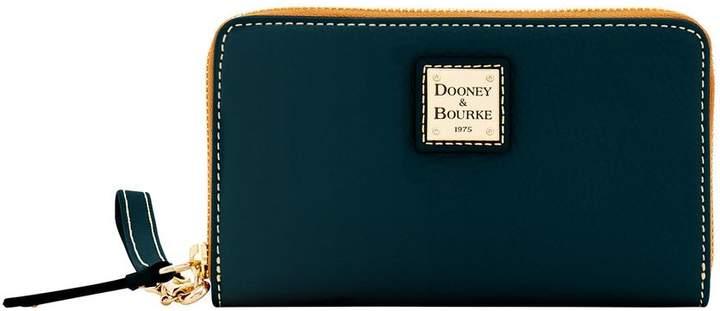Dooney & Bourke Pebble Grain Zip Around Phone Wristlet - BLACK BLACK - STYLE