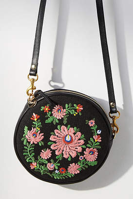 Clare Vivier Embroidered Circle Crossbody Bag