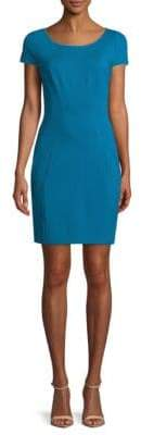 T Tahari Pepita Cap-Sleeve Sheath Dress