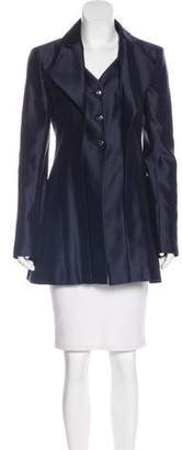 Chanel Silk-Blend Satin Blazer