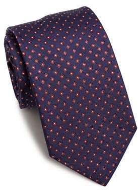 Eton Floral Embroidered Silk Tie