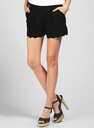 Beatrice Scallop Shorts