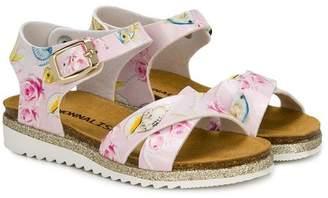 MonnaLisa rose print sandals