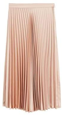 MANGO Satin pleated skirt