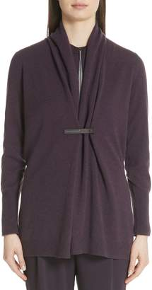 Fabiana Filippi Shawl Collar Wool Blend Cardigan