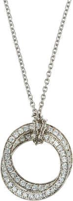 Nephora 14k White Gold Diamond Interlocking Pendant Necklace