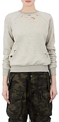 Taverniti So Ben Unravel Project Women's Distressed Cotton Fleece Sweatshirt