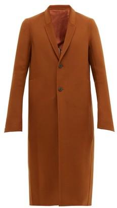 Rick Owens Larry Moreau Single Breasted Wool Blend Coat - Mens - Camel