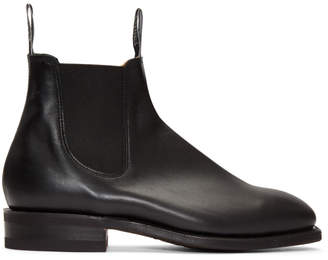 R.M. Williams Black Comfort Craftsman Chelsea Boots
