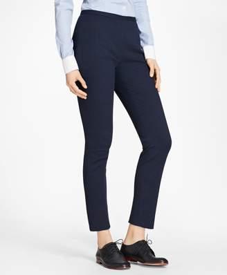 Brooks Brothers Petite Stretch Cotton Jacquard Slim-Fit Pants