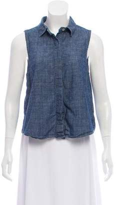 Rag & Bone Chambray Sleeveless Top