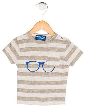 Andy & Evan Boys' Striped Embroidered Shirt