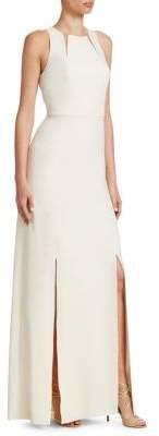 Halston Roundneck Floor-Length Gown