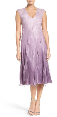 KOMAROV Chiffon A-Line Dress $338 thestylecure.com
