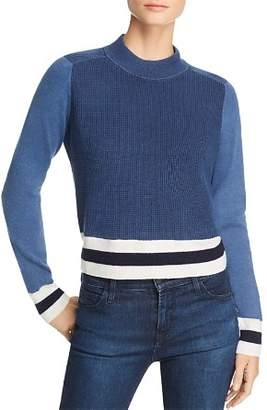 Rag & Bone Dean Color-Block Mock-Neck Sweater