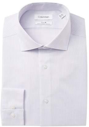 Calvin Klein Textured Stretch Slim Fit Dress Shirt
