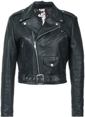 RE/DONE Leather Jacket with Sequin Lining