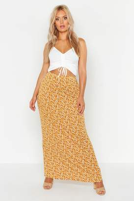 boohoo Plus Ditsy Floral Maxi Skirt