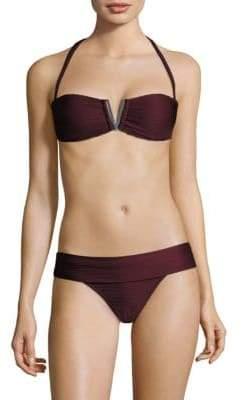 Heidi Klein V-Padded Bandeau Bikini Top