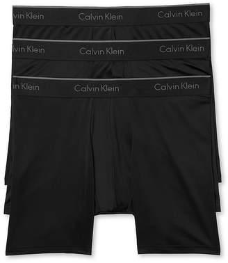 Calvin Klein Microfiber Stretch Boxer Briefs - Pack of 3 $42.50 thestylecure.com