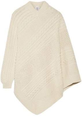 Rosie Assoulin Grandma Elanor's Cable-Knit Alpaca Poncho