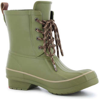 7a5665b514b5b Western Chief Womens Rain Boots Lace Up Waterproof Flat Heel Pull-on Wide  Width
