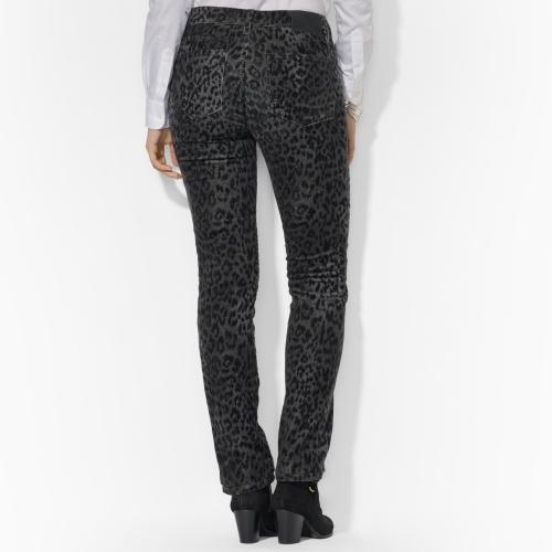 Lauren Ralph Lauren Ralph Animal-Print Straight Jean