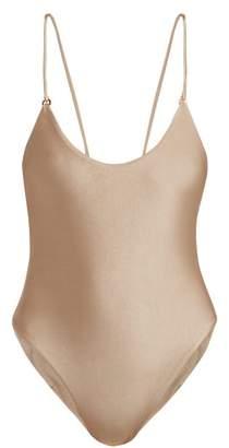 JADE SWIM Core Scoop Neck Swimsuit - Womens - Nude