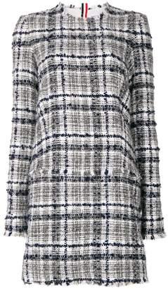 Thom Browne Reflective Tartan Mini Shirtdress