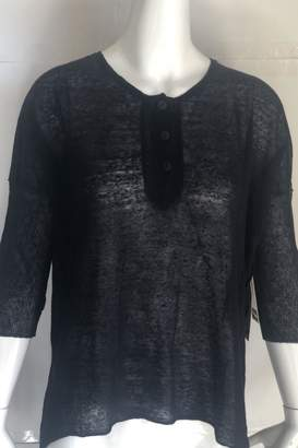 RD Style Black Henley Top