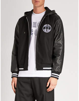 McQ Hybrid wool-blend and leather jacket