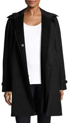 Jane Post Women's Wool Undercoat& Techno Topper - Black - Size Small