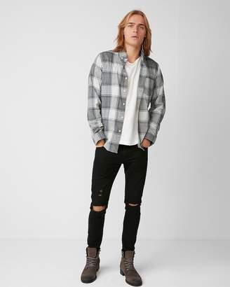 Express Soft Wash Heathered Plaid Shirt
