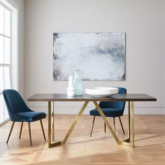 west elm Tower Dining Table - Dark Mineral