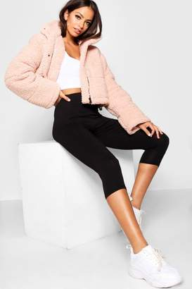 boohoo Washed Pastel Cotton Elastane Cropped Legging