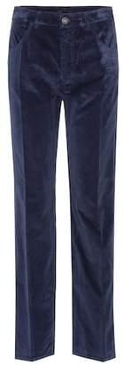 Prada Velvet mid-rise trousers