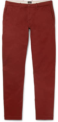 J.Crew 484 Slim-Fit Stretch-Cotton Twill Chinos - Burgundy