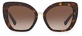 Valentino Women's Allure 54MM Tortoiseshell Sunglasses