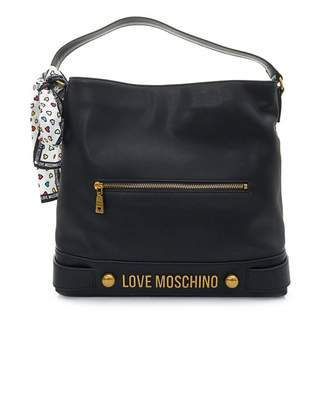 Love Moschino Accessories Letter Logo Hobo Bag With Scarf