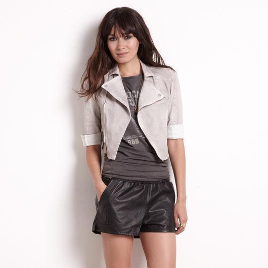 Rachel Roy Denim Motorcycle Jacket